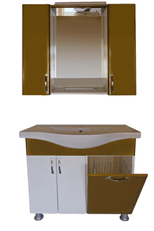 Шкаф за баня PVC 80см./6 к.б.старо злато,панер -РАЗПРОДАЖБА