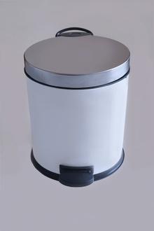Тоал.кош лукс,бяло/хром,педал,елипсовидна форма7л.