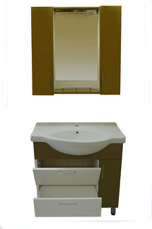 Шкаф за баня-ПВЦ-цвят ст.злато-м-л СЕРИК-РАЗПРОДАЖБА