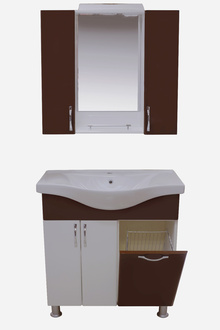 Шкаф за баня PVC 80см./6 венге панер РАЗПРОДАЖБА